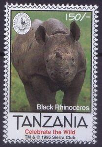 Tanzania 1995 MNH, Black Rhinoceros, Wild Animals
