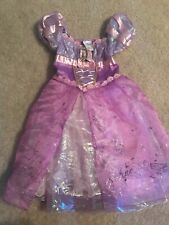 DISNEY Store Deluxe Tangled Princess Rapunzel Dress COSTUME size 4