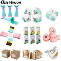 10×Mermaid Candy Boxes Party Bag DIY Sweet Candy Gift Box Wedding Birthday Favor