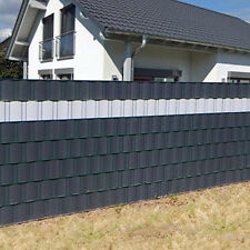 35m Sichtschutz Rolle PVC Zaunfolie Windschutz blickdicht Doppelstabmatten Zaun