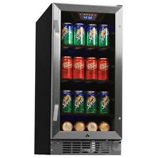 80 Can Undercounter Beverage Cooler Refrigerator - Compact Built-In Mini Fridge