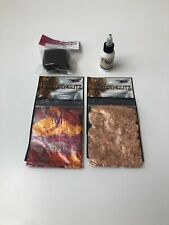 1g Copper and Varigated Metal Leaf Flakes Gilding Crafts with Glue and Sponge