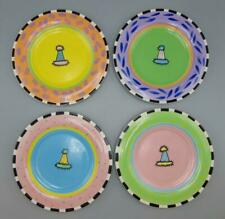Party Hat Plates Outta Hand Lot of 4 Plates Amy Hedrick