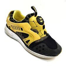Puma Disc Blaze LTWT CB Black & Yellow Leopard Running Shoes Men's Size-8.5.