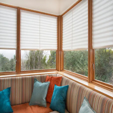"""36"""" x 72"""" Light Filtering Redi Shade White Paper Pleated Blackout Window Blind"""