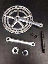 Fuji Sugino Crank Set Aluminum 170mm Vintage Road Bike Double Chain Wheel 52T