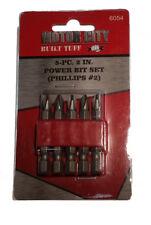 5-Pc. #2 Phillips Power Bit Set