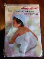 New Angelina Pink Baby Lacy Pantyhose Fancy Bottoms Large 18-24 mos