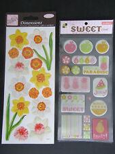 2 x Stickers Packs Anita's Dimensions Daffodils & DCWV Epoxy Sweet Sorbet 02