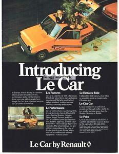 1977 Renault Le Car Automobile Vtg Print Ad car advertisement