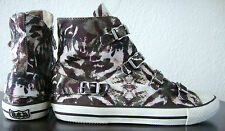 Ash Virgin Cheville-Sneaker Femmes Chaussures Chuck Camouflage Boucle Taille 37 NEUF
