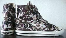 Ash Virgin caviglia-Sneaker Scarpe da Donna Chucks Mimetico Fibbia Mis. 41 NUOVO