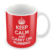 KEEP CALM and Carry on Running - Coffee Cup Gift Idea present sports gym