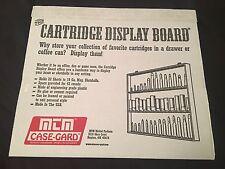 CARTRIDGE AMMUNITION COLLECTORS RIFLE PISTOL SHOTGUN AMMO DISPLAY BOARD MTM CBD1
