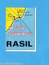 FOOTBALL CLUBS-PANINI 1975-Figurina n.34- BRASILE - CARTINA 4/4 -Rec