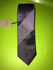 NWT Burberry Manston Check Silk Tie HEATHER Made in Italy Retail $190