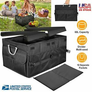 Trunk Cargo Organizer Folding Collapse Bag Bin For Chevrolet Camaro
