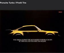 Porsche Turbo/Pirelli Original Factory Out of Print Extremely Rare Car Poster!!!