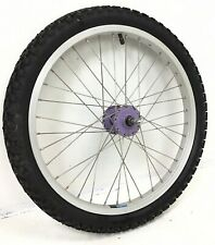 """20"""" Bicycle Front Alloy Wheel with Purple Hub and 2.15"""" Tire Bmx Kids Bike #j40"""