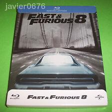 FAST & FURIOUS 8 - BLU-RAY NUEVO Y PRECINTADO STEELBOOK