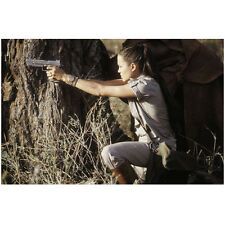 Lara Croft Tomb Raider Angelina Jolie Aiming Gun by Tree 8 x 10 Inch Photo