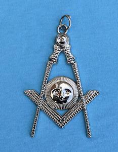 Masonic Jewels-Craft Past/Grand Master Collar Jewel Silver Colour