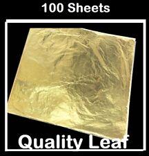 24ct Gold Leaf colour Foil sheets Gilding Art Craft Metallic transfer DIY 7cm