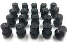 20 X ALLOY WHEEL NUTS BLACK FOR FORD M12 X 1.5 19MM HEX BOLTS LUGS STUDS  [3]
