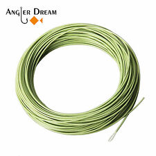 WF 1/2/3/4/5/6/7/8/9F Floating Fly Fishing Line Moss Green Exposed Loop Fly Line