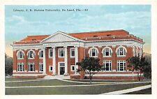 A85/ Deland Florida Fl Postcard c1915 J.B. Stetson University Library Building 1