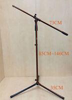 Haze MS080 Height Adjustable & Foldable Metal Microphone Stand, Black, Tripod