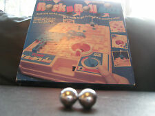 2x Replacement Metal Steel Ball / Ballbearing - Vintage Tomy Rock n & Roll Maze