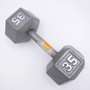 Single 35lb CAP Barbell Cast Iron Hex Dumbbell (35 Pounds Total)