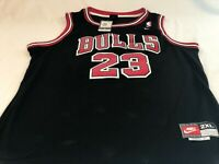NEW Nike Michael Jordan Chicago Bulls Jersey Black/Red Size XXL NBA