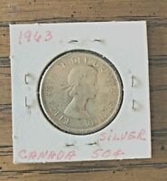 1963 CANADA SILVER HALF DOLLAR UNCERTIFIED, SEALED IN PROTECTOR SLEEVE