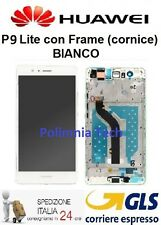 HUAWEI P9 Lite BIANCO - DISPLAY LCD+TOUCH COMPLETO con FRAME   - GLS 24 h..!