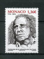 Monaco 2016 MNH Leo Ferre Birth Cent 1v Set Composers Poets Music Stamps