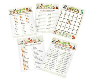 woodland theme Baby shower games 4 baby shower games