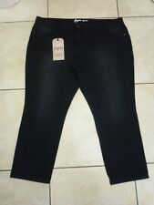 "NEXT Figure Relaxed SKINNY Jeans Size 22 UK Leg 29"" Washed Black"