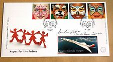 THE FUTURE 2001 ROYAL MAIL FDC CONCORDE SIGNED BY DAVID ROWLAND & LIAM COOPER