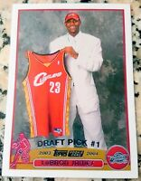 LEBRON JAMES 2003 Topps #1 Draft Pick Rookie Card RC Cavaliers Champs Reprint