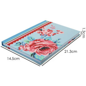 A5 Rose Hardback Office School Gift Lined Notebook Notepad Journal Writing Book
