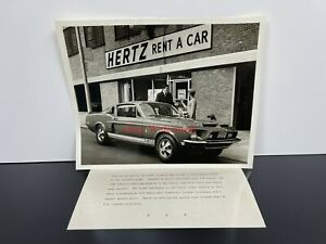 RARE! Vintage Original 1968 Hertz Rent-A-Car SHELBY COBRA GT350 Press PHOTO