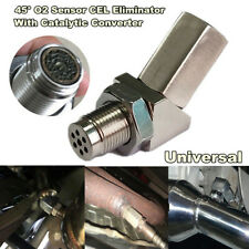 45° CEL Check Engine Light Fix O2 Sensor Spacer With Catalytic Converter M18X1.5