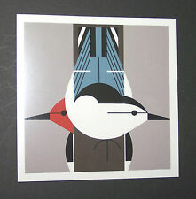 "Charles/Charley Harper Notecards ""Upside Downside"" 4 Pack w/Envelopes"