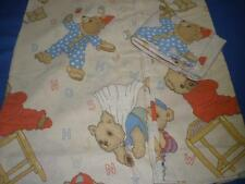 SINGLE BED SIZE QUILT COVER + 1 PILLOWCASE ASSORTED BEARS