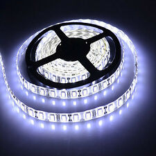 5M 3528 SMD LED Flexible Strip Light Cool White For Car Xmas+Free DC Female Jack