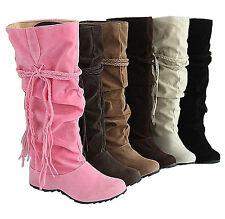 Damen Stiefel Stiefeletten Boots Schlupf Stiefel Schlupf Damenschuhe