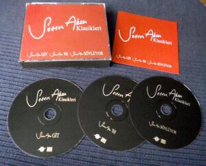 3xCD Box SEZEN AKSU Git (1986) & '88 (1988) & Söylüyor (1989) Turkish Pop 80s