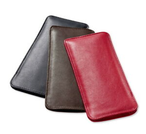 Einstecketui Meriva from Real Soft Cowhide Lined Glasses Bag Case